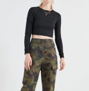 Urban Outfitters High Waist Cargo Crop Pants